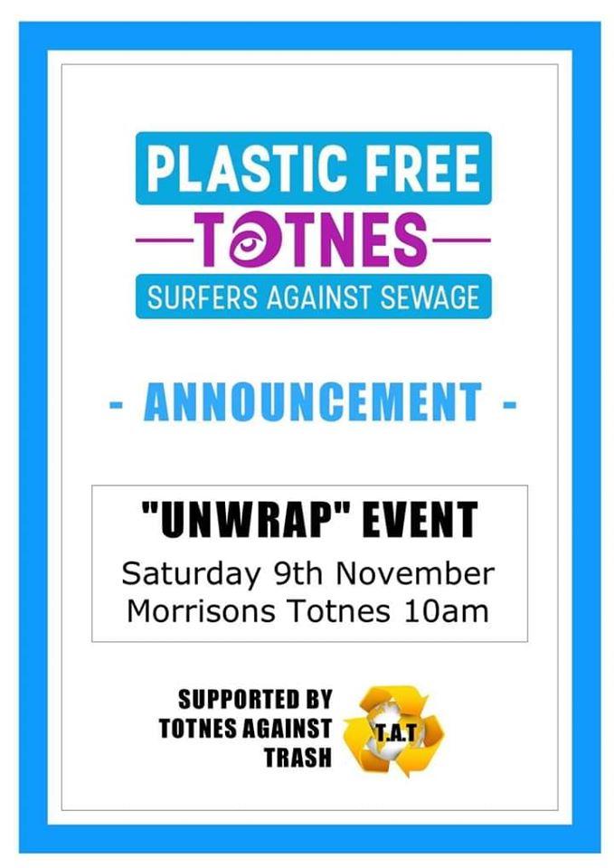 Poster for unwrap event saturday 9 November